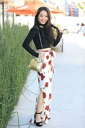 Kimberly Kong - Stitch Fix High Waisted Trousers, Nine West Velvet Platforms - Find of the Day:  The Ruffle Crop Top ($26)