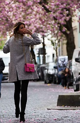 Malia Keana - Zara Wool Coat, Gucci Bag - Pink Cherry Blossom