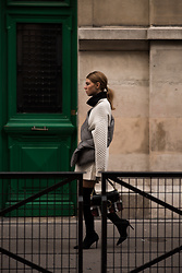 Swantje Sömmer | OffwhiteSwan - J.W. Anderson Bag, Shop All Items On My Blog - Sportmax Sweater & Overknees