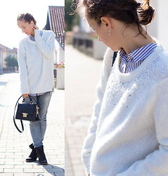 Iva K - C&A Sweater, H&M Shirt - Embellished sweater