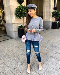 Sasa Zoe - Two In One Top, Less Than $70 Jeans, Hat, Earrings, Shoes, Bag - TUESDAY FUNDAY