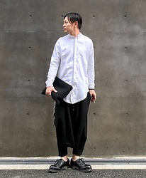 ★masaki★ - Ch. Longfit Shirts, Monochrome Penguin Pants, Dr. Martens Made In England - Minimal⚫️⚪️
