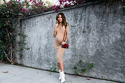 Jessi Malay - Chloe Suede Faye Wallet Bag, Cashmere In Love Tiera Dress, Michele Deco Diamond Watch, Tony Bianco Freddie White Capretto Boots - Fall Staples