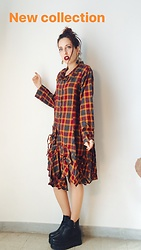Margot Garage -  - Tartan japanese manga dress