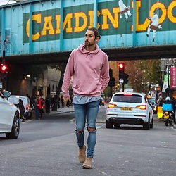Henry & William Wade - H&M Oversized Hoody, H&M Long Length T Shirt, H&M Stretch Skinny Jeans, Office Shoes Chelsea Boots - Casual weekend vibes