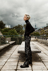 Mikko Puttonen - Selected Homme Turtleneck, H&M Latex Pants, Adieu Paris Shoes - GRUNGE