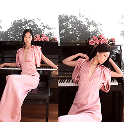 Cissy Zhang - Prada Pink Long Dress - Romantic mood