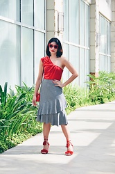 Cassey Cakes - Mango Skirt - Red...Won't Get Tired Of