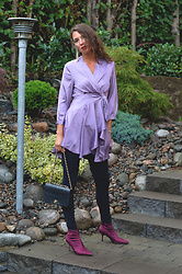 Isabella Pozzi - Zaful Wrap Dress - Purple wrap dress Zaful