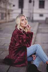 Sophia Faßnacht - New Look Fake Fur Coat - Love Coat