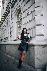 Merna Mariella - Mango Leather Dress - Leather dress