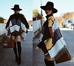 Paris Sue - Tommy Hilfiger Cape, Michael Kors Bag - You keep waiting for something called love.
