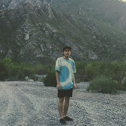 Roberto Villalón - Forever 21 Tie Dye, H&M Shorts, Emerica Shoes, Hurley Hat - Trip to the mountains.