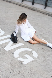 Leanne Pak - Aka Dress, Superga Shoes - NO PARKING