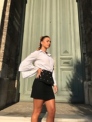 Imgoshka - Zara Skirt With Pearls, Trendyolmilla Shirt With Pearls - Elegant look