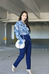 Kimberly Kong - Asos Ruffle Blouse, Asos Tie Pants - Find of the Day:  The Ruffle Blouse ($30.50)