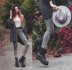 Liza LaBoheme - Rosegal Cable Knit Top, Platform Boots - Some fairytale bliss