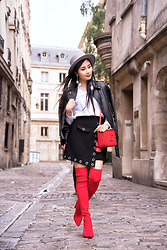Tina Lee -  - Red Over The Knee Boots