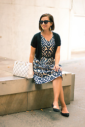 "Lindsey Puls - Lilee Fashion Dress, Chinese Laundry Wedges, Kate Spade Purse - A Very ""Me"" Outfit"