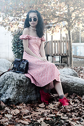 M U T Z I I - Rosegal Gingham High Waisted A Line Vintage Dress - Let's go where creeds are stars, illuminating our view.