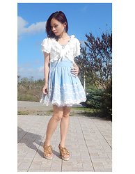 Nowaki Selenocosmia - Liz Lisa Blue Dress, White Lace Bolero, Liz Lisa Brown Sandals - Last rays of summer