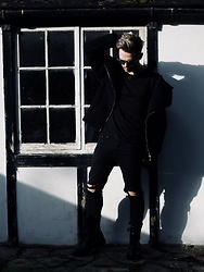 Bradley A - Versace Biker, Vivienne Westwood Textured, Weekday Pierced, Dior Homme Mirror - ALL BLACK EVERYTHING