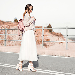 Tamara Bellis - Rosegal Sweater, Rosegal Tulle Skirt, Marc B. Backpack, Simmi Shoes Sandals - Tulle Skirt