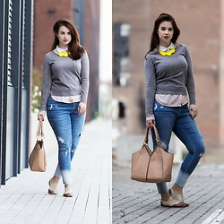 Drew - Primark Sweater, Paracord Necklace, Simply Be Jeans, Letnyhit.Sk Handbag, Ojju Shoes - Urban style