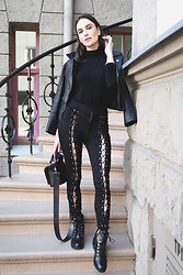 Anna Puzova - Dresslink Jacket, Light In The Box Pants, Gamiss Boots, Stuudio Nahk Bag - BLACK IS MY HAPPY COLOR