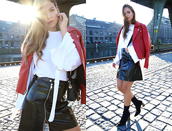 Dominique B. - Stradivarius Jacket, H&M Skirt, Karl Lagerfeld Bag - Last warm days