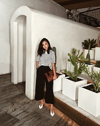 Tiffany Wang - Cos Pants, Zara Heels, Cos Shirt, Jw Anderson Purse - CACTI EVENING