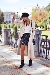 Martha Lozano - Asos Cap, Ivyrevel Trench, Mango Skirt, Volumbags Bag - No me vendas la moto