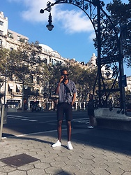 Abdulqadir Abuukar - New Look Navy Stripe Revere Shirt - Streets of Barca