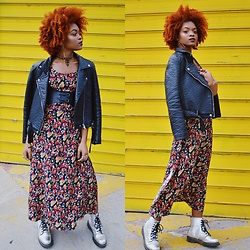 Alicia Nicholls -  - How to Make Floral Print Look Edgy for Fall