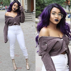Ayeesha H - Thestyleperv Pants, Thestyleperv Jacket - PURPLE HAZE