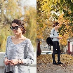Dominika Kosik - Romwe Sweater, Invu Eyewear Sunglasses - Letting summer go