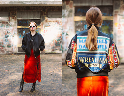 Kristina Magdalina - Poppy Lovers Bomber Jacket, Zaful Skirt - How To Wear Colored Clothes?!