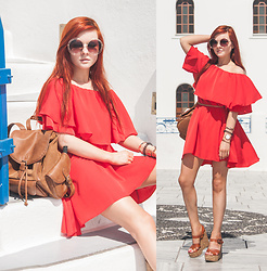 Anya Dryagina - Shein Dress - Santorini