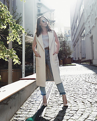 Alina Ermilova - All.We.Need Cream Vest - How To Make Light Colors Work For Fall