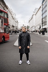 Kevin Elezaj - New Balance Sneakers, H&M Trousers, Stutterheim Raincoat - OOTD - Windy London