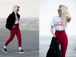 Endzel - Romwe Pants, Romwe T Shirt, Romwe Sunglasses, Pull&Bear Jacket - Now or Never