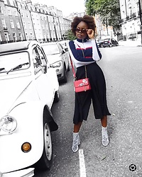 Abimbola Ogunsanya - Zaful Mock Neck Sweater, Zaful Culotte Skort - How to style