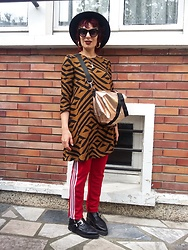 Luna Tiger - Primark Hat, H&M Graphic Dress, Tati Golden Bag, Berschka Pants, Underground Shoes - Taking Care Of My Own Flame