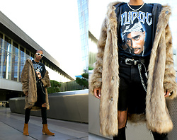 Dominic Grizzelle - Urban Outfitters Uo Hooded Faux Fur, Urban Outfitters Tupac Washed Tee, Urban Outfitters Uo Metal Tipped Belt, Shoe The Bear - ALL EYEZ ON ME #Fauxfur