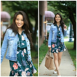 Kimberly Kong - Stitch Fix Denim Jacket, Stitch Fix Floral Dress, Violet Ray Tote - Encountering the Supernatural:  My Real-Life Ghost Story