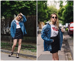 Iga Zubiel - Levi's® T Shirt, Zara Skirt, Bershka Jacket, H&M Shoes - Levi's