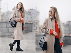 Lisa - Zaful Trench Coat, Glasses - In the fog