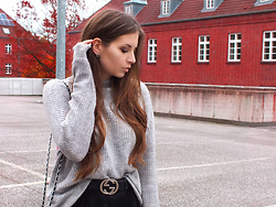 OH ANNE (BLOGGER) -  - KNIT SWEATER & GUCCI BELT