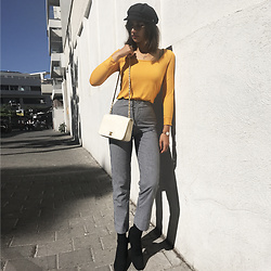 Karen Or - Chanel Bag, Brandy Melville Usa Pants - Mellow Yellow