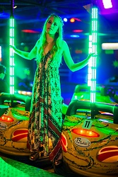Alice Snowflakes - New Yorker Bohemian Dress, No Name Space Sneakers - Las Vegas inside
